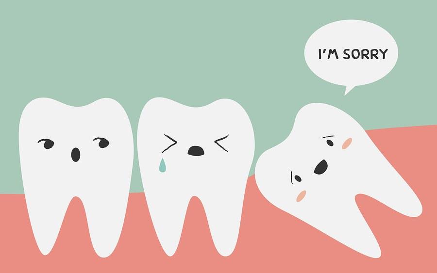 denti del giudizio che spingono